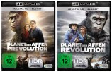 Planet der Affen: Prevolution + Revolution - 4K Ultra HD Blu-ray + Blu-ray - Set (Ultra HD Blu-ray)