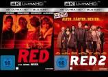 R.E.D. - Älter. Härter. Besser. + R.E.D. 2 - Noch Älter. Härter. Besser. - 4K Ultra HD Blu-ray + Blu-ray (Ultra HD Blu-ray)