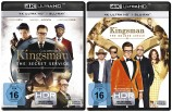 Kingsman - The Secret Service + The Golden Circle - (Teil 1+2 Set) - 4K Ultra HD Blu-ray + Blu-ray (4K Ultra HD)