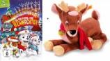 Paw Patrol - Die Paw Patrol rettet Weihnachten (DVD) + Steiff Plüsch-Rentier Olaf - Set