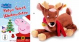 Peppa Pig - Peppa feiert Weihnachten (DVD) + Steiff Plüsch-Rentier Olaf  - Set