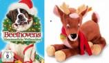 Beethovens Abenteuerliche Weihnachten (DVD) + Steiff Plüsch-Rentier Olaf - Set