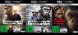 Planet der Affen: Prevolution + Revolution + Survival - Set - 4K Ultra HD Blu-ray + Blu-ray (4K Ultra HD)