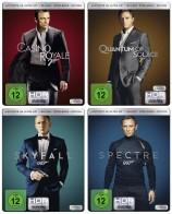 Daniel Craig - James Bond 007 Set - 4K Ultra HD Blu-ray + Blu-ray / Steelbook / Casino Royale + Ein Quantum Trost + Skyfall + Spectre (4K Ultra HD)