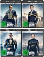 Daniel Craig - James Bond 007 Set - 4K Ultra HD Blu-ray + Blu-ray / Casino Royale + Ein Quantum Trost + Skyfall + Spectre (4K Ultra HD)