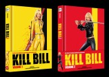 Kill Bill - Volume 1 + 2 - Mediabook Set - Limited Collector's Edition Cover B / wattiert (Blu-ray)