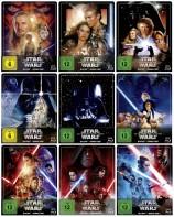 Star Wars: Episode 1+2+3+4+5+6+7+8+9 im Set - Steelbook Edition (Blu-ray)