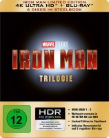 Iron Man Trilogie - 4K Ultra HD Blu-ray + Blu-ray / Limited Edition / Steelbook (4K Ultra HD)