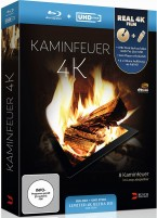 Kaminfeuer 4K - Blu-ray + UHD Stick in Real 4K (Blu-ray)