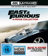 Fast & Furious - 8-Movie Collection / 4K Ultra HD Blu-ray + Blu-ray (4K Ultra HD)