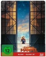 Captain Marvel - Blu-ray 3D + 2D / Steelbook (Blu-ray)