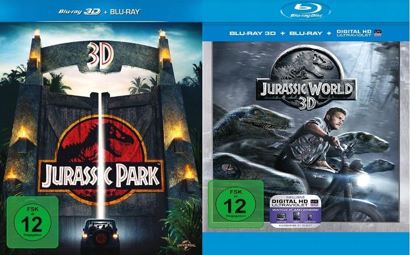 Jurassic Park 3D + Jurassic World 3D (Blu-ray)