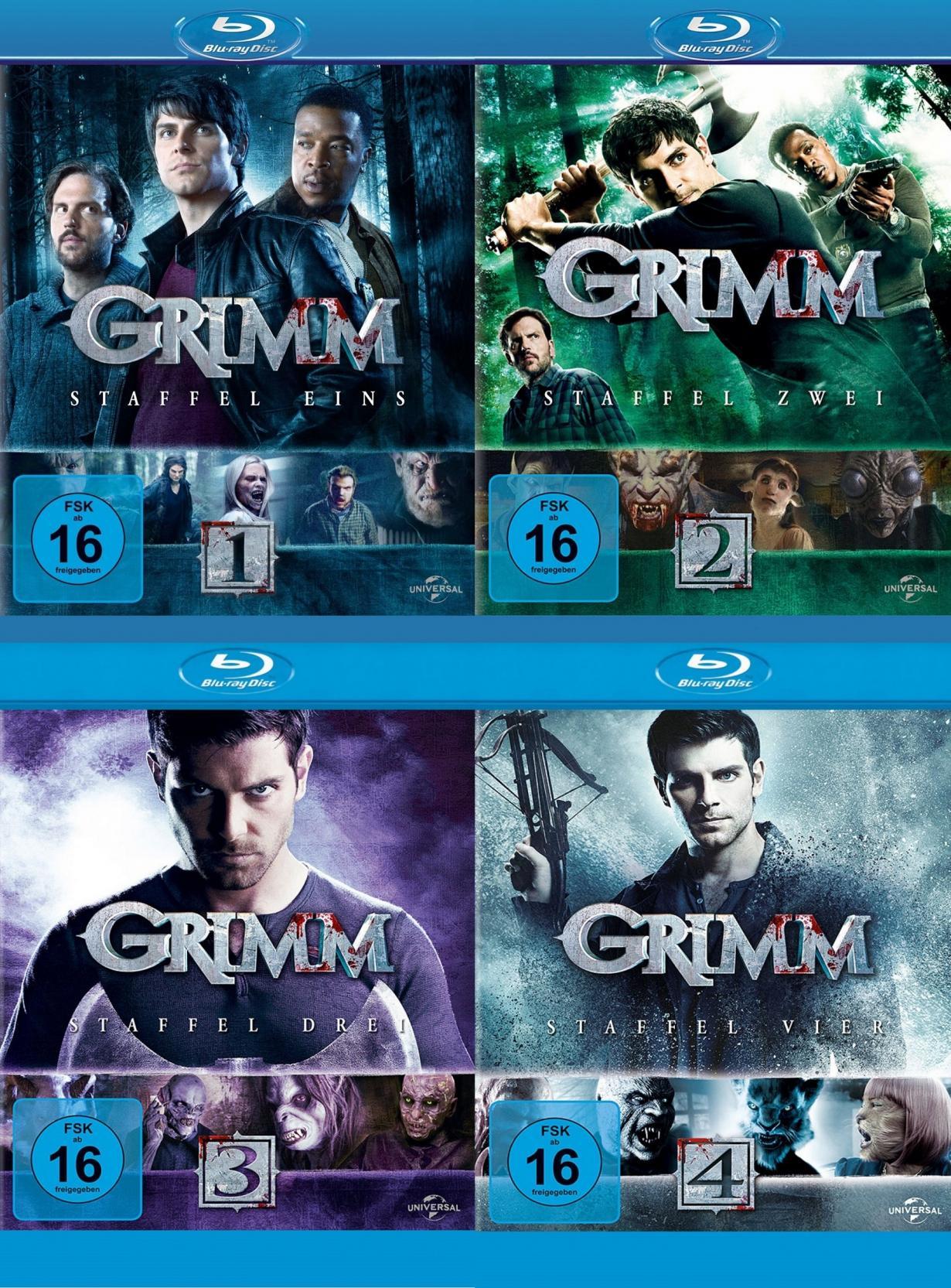 Grimm Staffel 1-4 Set (Blu-ray)