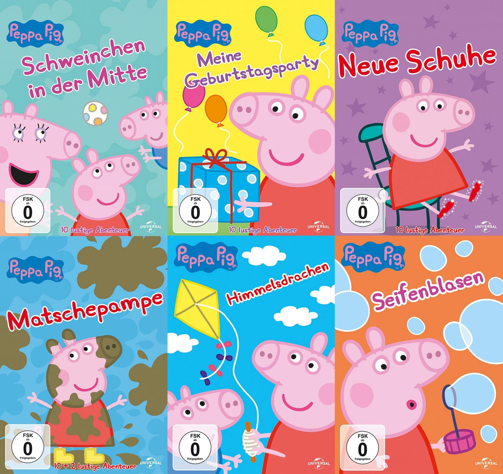 Peppa Pig - Vol. 1-6 Set (DVD)