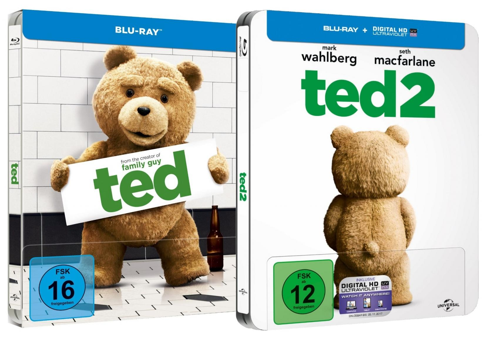 Ted 1+2 - Steelbook Set (Blu-ray)