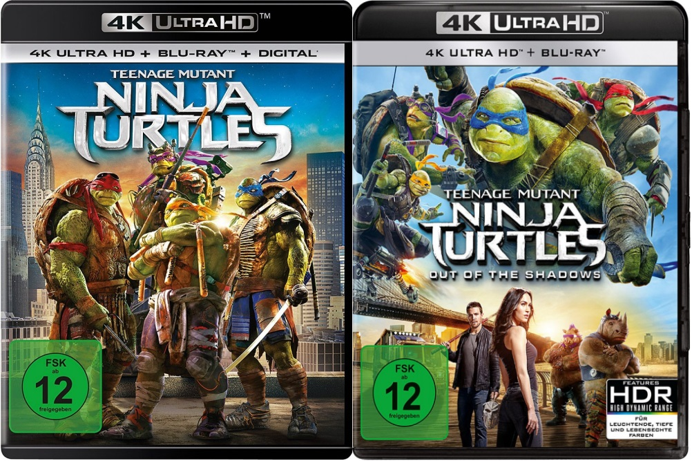 Teenage Mutant Ninja Turtles + Teenage Mutant Ninja Turtles - Out of the Shadows - Set - 4K Ultra HD Blu-ray + Blu-ray (Ultra HD Blu-ray)