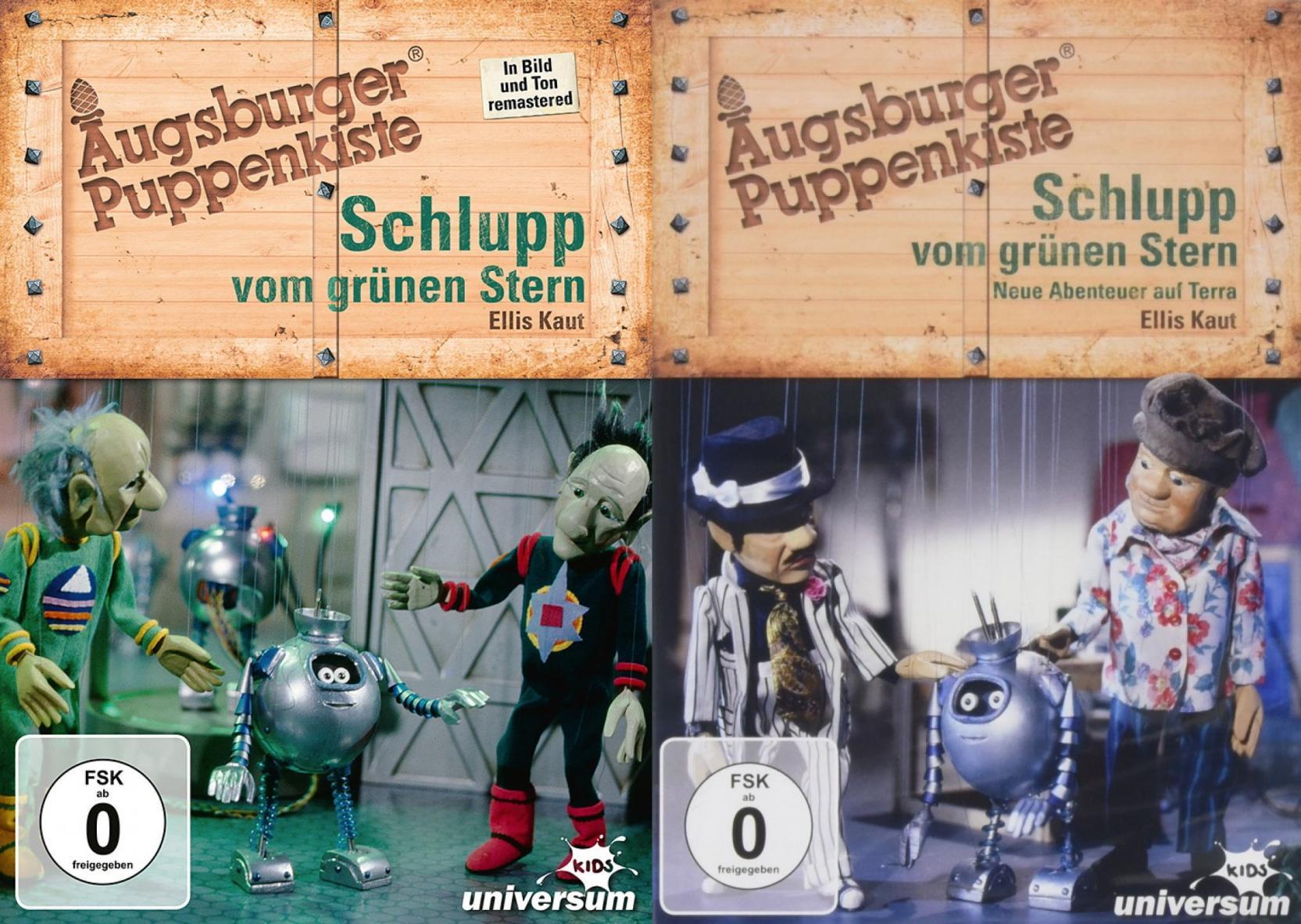 Schlupp vom grünen Stern + Schlupp vom grünen Stern - Neue Abenteuer auf Terra - Augsburger Puppenkiste - Set (DVD)