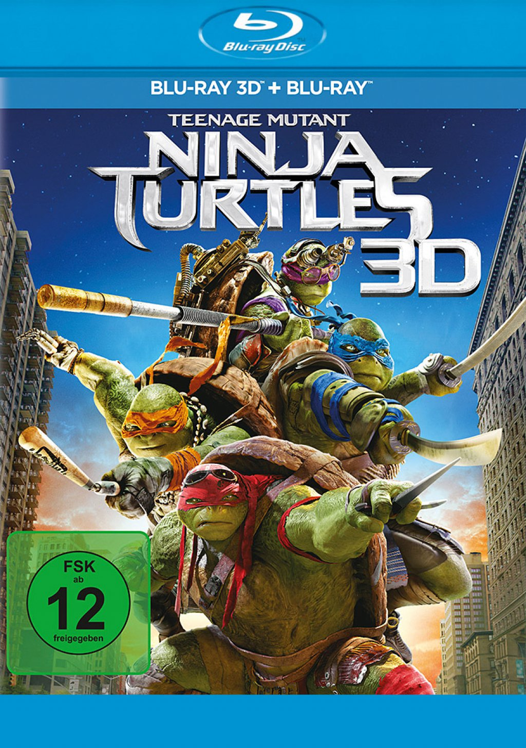 Teenage Mutant Ninja Turtles - Blu-ray 3D + 2D (Blu-ray)