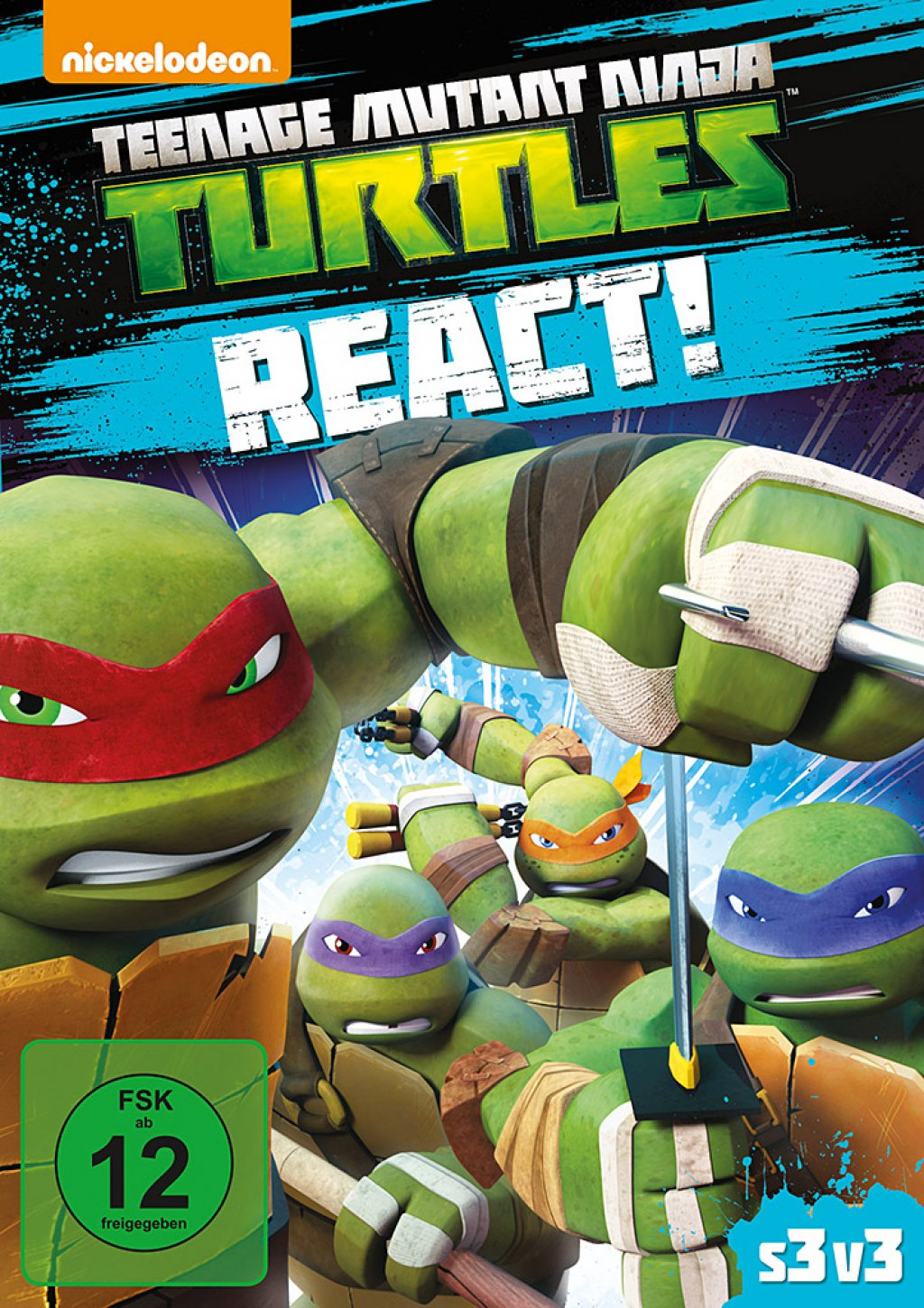Teenage Mutant Ninja Turtles - React (DVD)