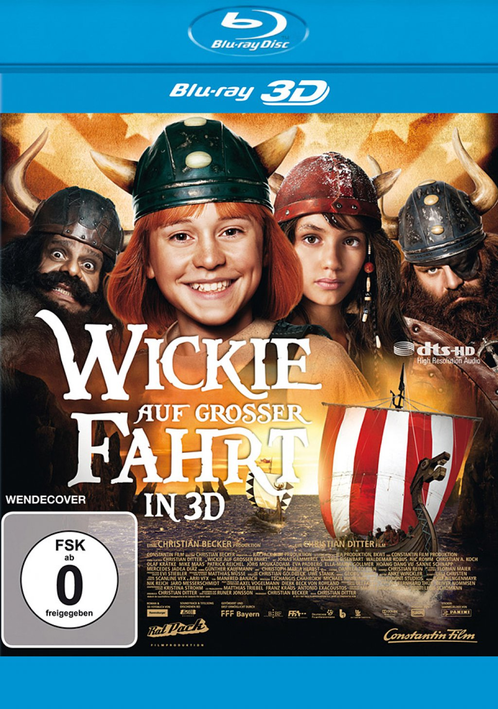 Wickie auf grosser Fahrt 3D - Blu-ray 3D (Blu-ray)