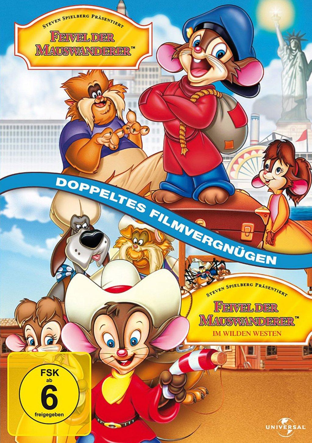 Feivel der Mauswanderer & Feivel der Mauswanderer 2 - Im Wilden Westen (DVD)