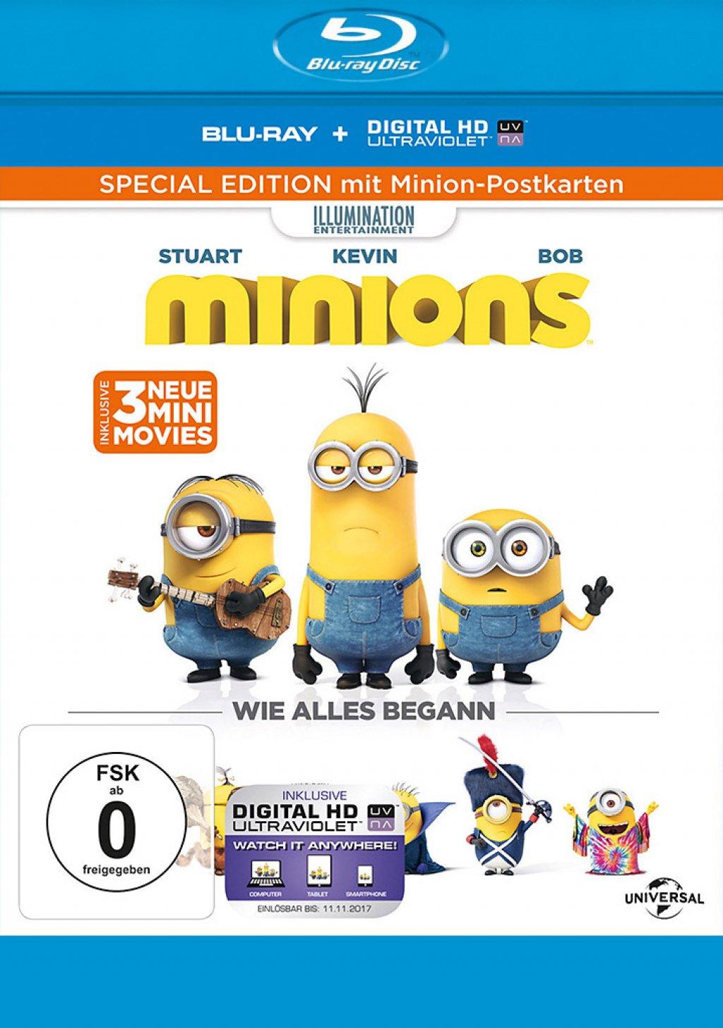 Minions - Special Edition mit Minion-Postkarten (Blu-ray)
