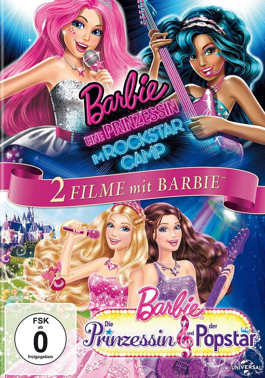 Barbie - Eine Prinzessin im Rockstar Camp & Die Prinzessin und der Popstar (DVD)