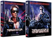 Terminator 1 + Terminator 2 - Tag der Abrechnung - Limited Collector's Edition / Mediabook Set - wattiert (Blu-ray)