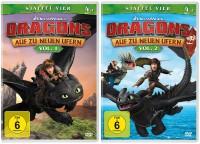 Dragons - Auf zu neuen Ufern - Staffel 4 / Vol. 1+2 - Set (DVD)