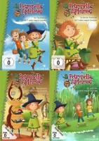 Petronella Apfelmus 1+2+3+4 im Set / Der Oberhexenbesen + Das Band der Freundschaft + Der Zaubersauberbesen + Der große Fund (DVD)