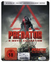 Predator 1-3 Movie Collection - 4K Ultra HD Blu-ray + Blu-ray / Limitierte Steelbook Edition (4K Ultra HD)