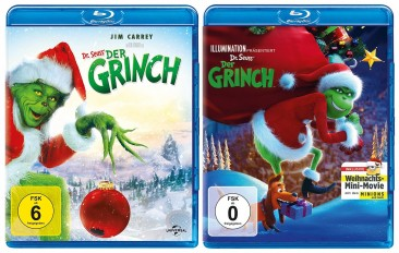 Der Grinch + Der Grinch als Animationsfilm - Set (Blu-ray)