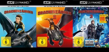 Drachenzähmen leicht gemacht 1+2+3 Set - 4K Ultra HD Blu