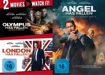 Olympus Has Fallen & London Has Fallen & Angel Has Fallen - Set (DVD)