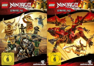 LEGO Ninjago: Masters of Spinjitzu - Staffel 9.1 + 9.2 im Set (DVD)