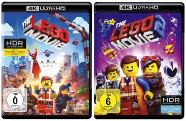 The Lego Movie 1+2 im Set - 4K Ultra HD Blu-ray + Blu-ray (Ultra HD Blu-ray)