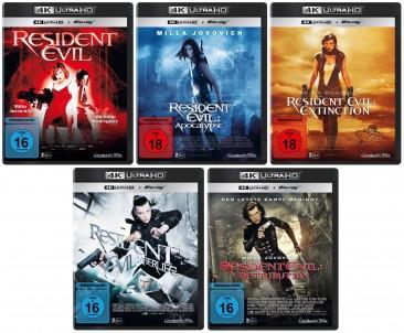 Resident Evil 1+2+3+4+5 im Set - 4K Ultra HD Blu-ray + Blu-ray (4K Ultra HD)