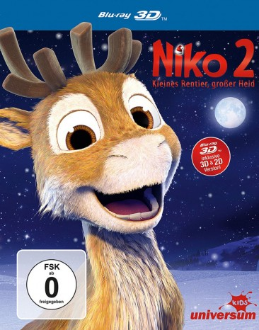 Niko 2 - Kleines Rentier, großer Held - Blu-ray 3D + 2D (Blu-ray)