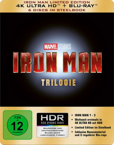 Iron Man Trilogie - 4K Ultra HD Blu-ray + Blu-ray / Limited Edition / Steelbook (4K Ultra HD)