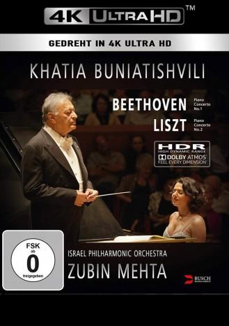 Khatia Buniatishvili & Zubin Mehta: Liszt & Beethoven - 4K Ultra HD Blu-ray (Ultra HD Blu-ray)