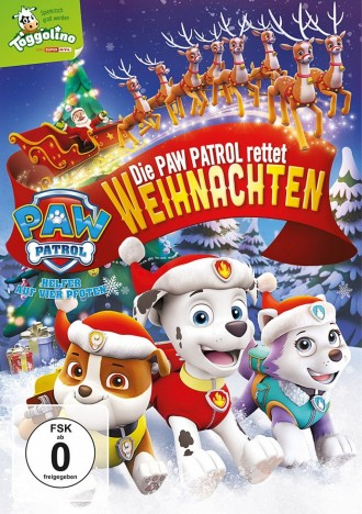 paw patrol die paw patrol rettet weihnachten dvd. Black Bedroom Furniture Sets. Home Design Ideas