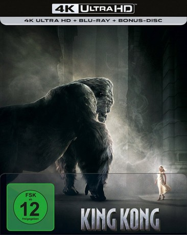 King Kong - 4K Ultra HD Blu-ray + Blu-ray / Extended + Kinofassung / Limited Steelbook (4K Ultra HD)
