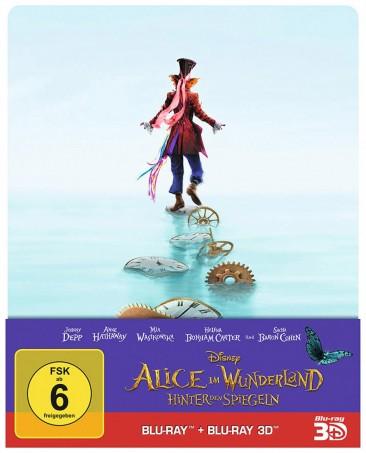 Alice im Wunderland - Hinter den Spiegeln - Blu-ray 3D + 2D / Steelbook (Blu-ray)