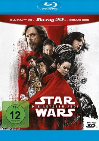 Star Wars: Episode VIII - Die letzten Jedi - Blu-ray 3D + 2D (Blu-ray)