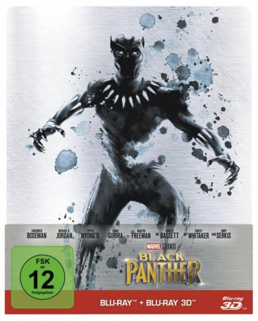 Black Panther - Blu-ray 3D + 2D / Limited Steelbook (Blu-ray)