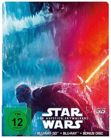 Star Wars: Episode IX - Der Aufstieg Skywalkers - Blu-ray 3D + 2D + Bonus-Disc / Steelbook (Blu-ray)