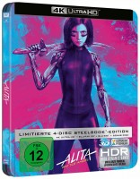 Alita: Battle Angel - 4K Ultra HD Blu-ray + Blu-ray 3D + 2D / Steelbook (4K Ultra HD)